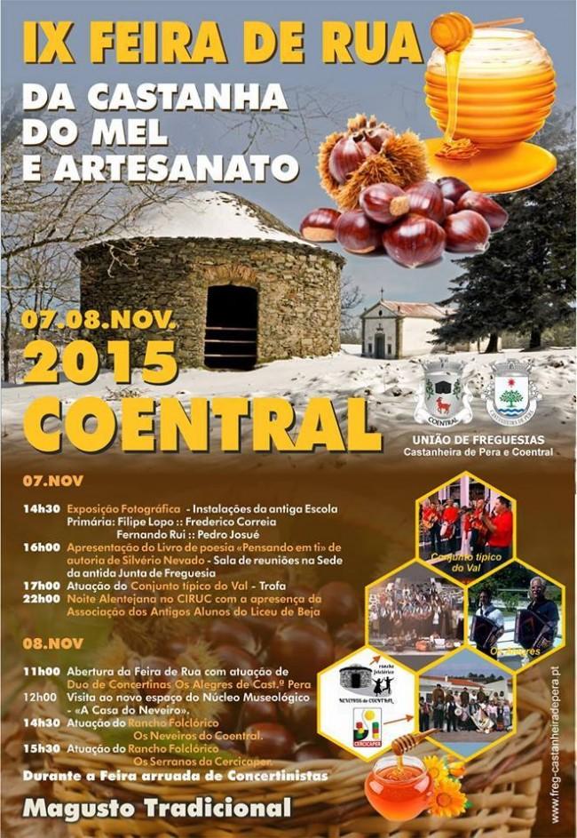 IX Feira de Rua da Castanha, do Mel e Artesanato no Coentral