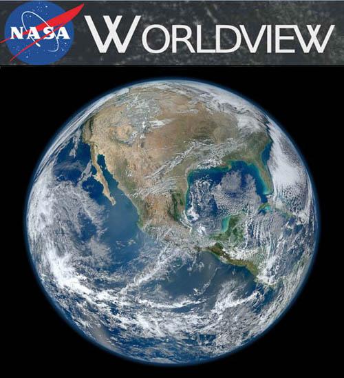 Nasa Worldview - Ferramenta de Procura e Download de Imagens de Satélite