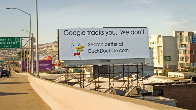 Trocar o Google pelo DuckDuckGo