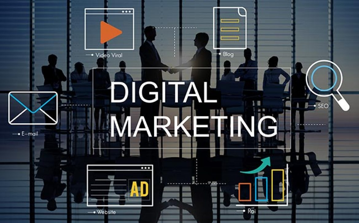 Digital Marketing Media Technology Graphic Concept